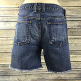 Current Elliot Shorts Medium Wash Distressed High low Destroy Retail $275 II16