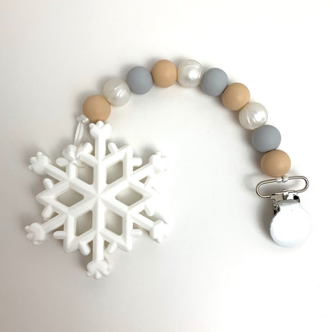 Snowflake teething toy