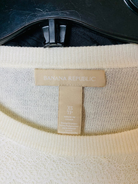 Banana Republic xS sweater part wool lace overlay