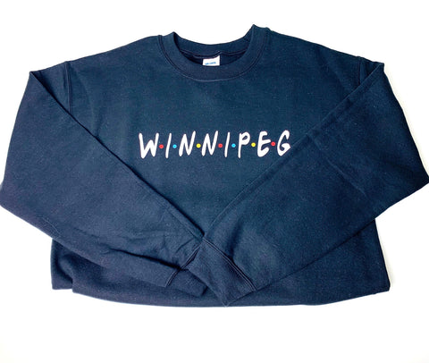 Winnipeg Friends Black Sweater