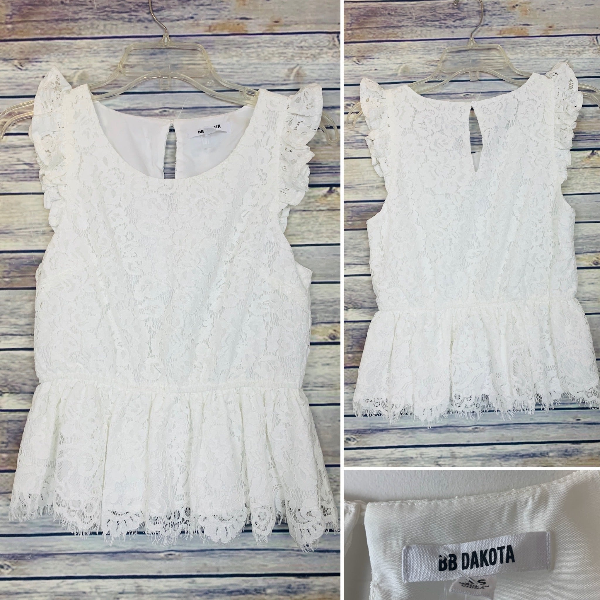 BB Dakota White top Size XS