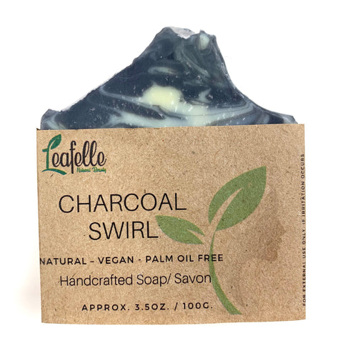 Charcoal Swirl  Soap