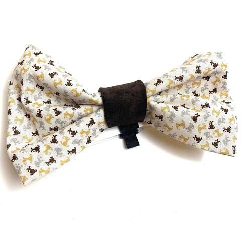 Large Dog Bow Tie Puppies Print