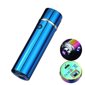 THE LARGE CYLINDER TRIPLE Blue Lighter
