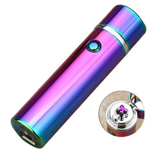 Small Cylinder Double Arc Sizzle Lighter- Oil Colour