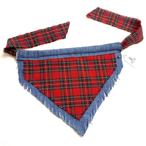 Dog Bandana With Denim