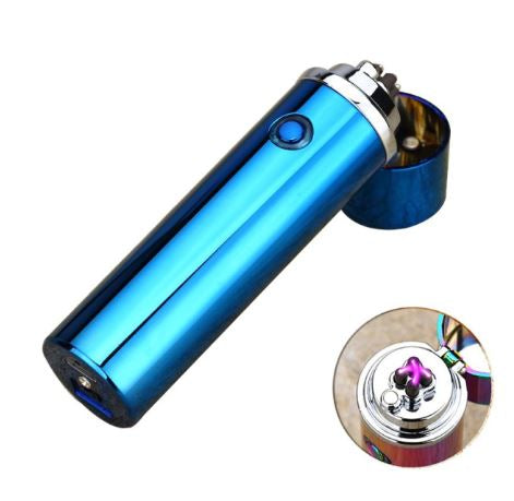 Small Cylinder Double Arc Pipe- Blue