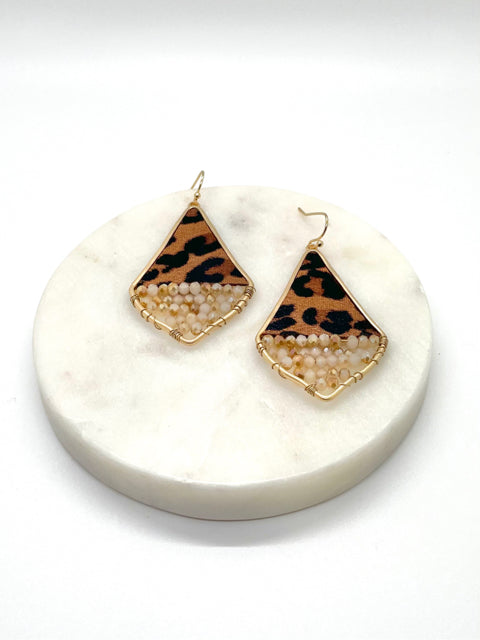 Leopard Chandelier Earrings