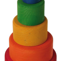 Grimms - Stacking Bowls Rainbow Red Outside