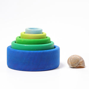 Grimm's - Stacking Bowls Ocean Blue