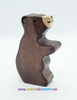 Holztiger Wooden Toys - Brown Bear Small Sitting