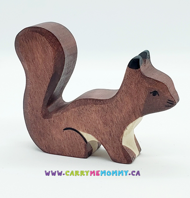 Holztiger Wooden Toys - Brown Squirrel Playing