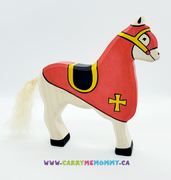 Holztiger Wooden Toys - Red Tournament Horse