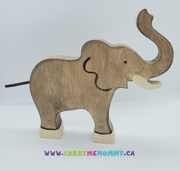 Holztiger Wooden Toys - Elephant Large, trunk raised