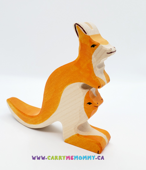 Holztiger Wooden Toys - Kangaroo with Joey