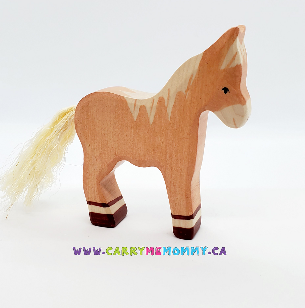 Holztiger Wooden Toys - Foal Standing Light Brown