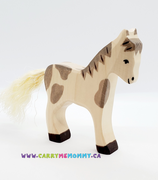 Holztiger Wooden Toys - Foal Standing Dappled