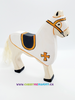 Holztiger Wooden Toys - White Tournament Horse