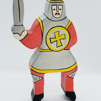 Holztiger Wooden Toys - Red Tournament Knight (without horse)