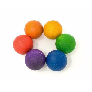 Grapat - Wood Coloured Balls (6pc)