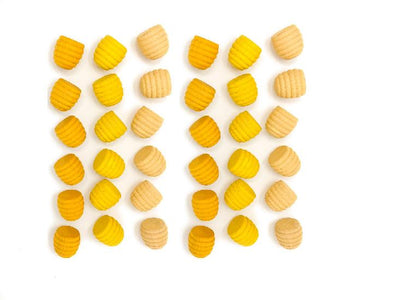 Grapat - Wood Mandala Honeycombs (36pc, Yellow)