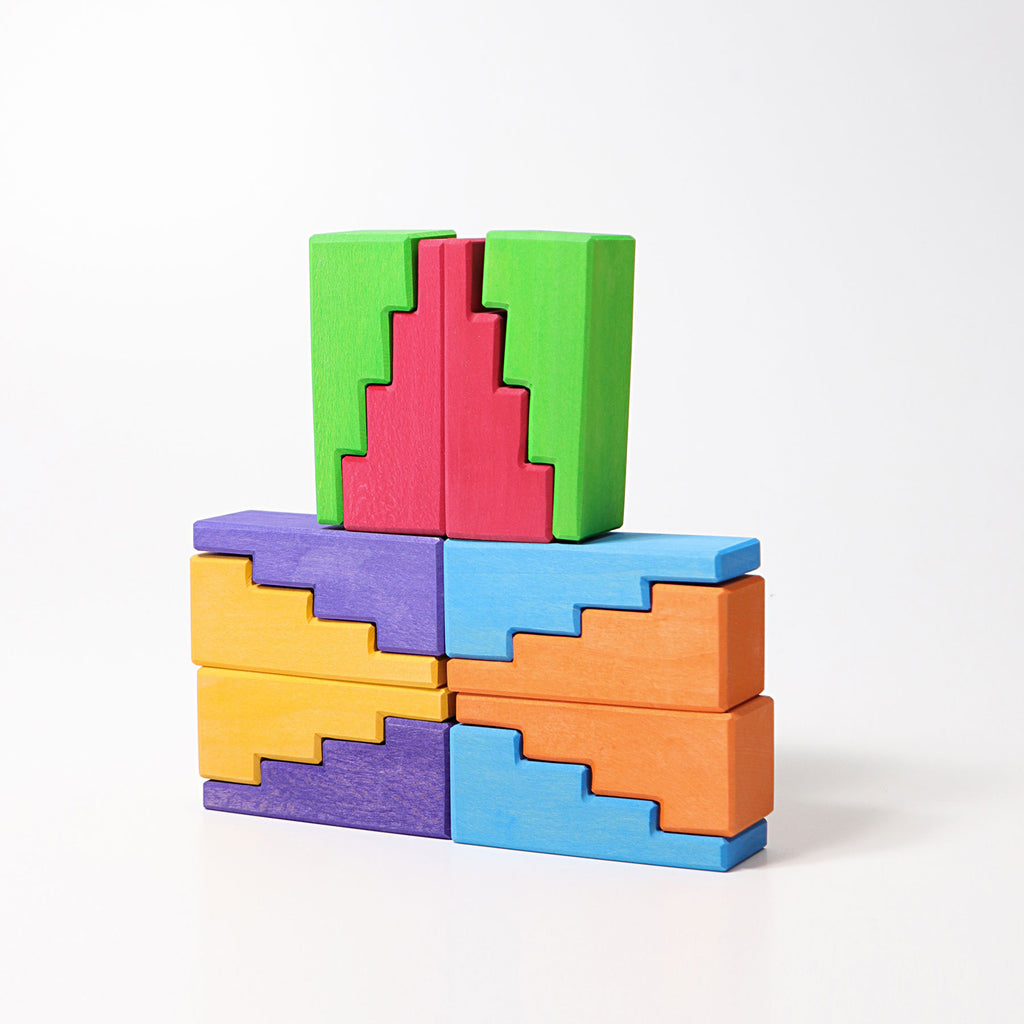 Grimms  - Stepped Roof Rainbow Blocks