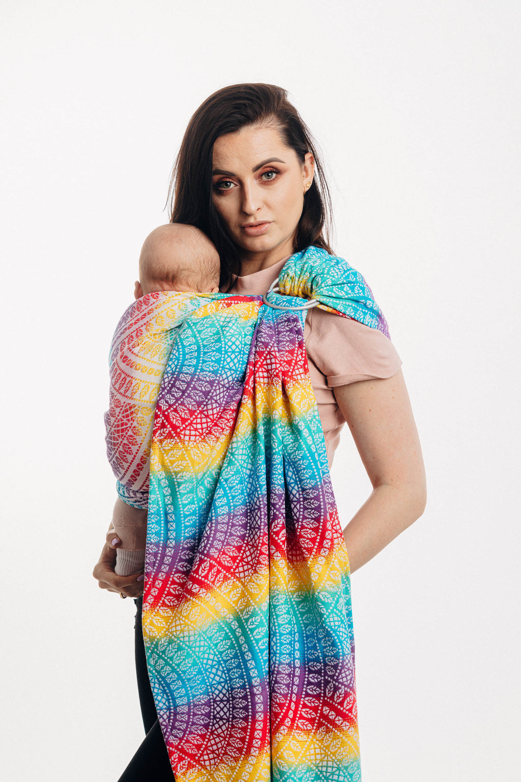 "LennyLamb Ring Sling - Peacock's Tail ""Funfair"""