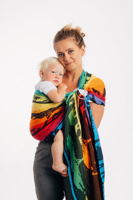 LennyLamb Ring Sling - Rainbow Safari 2.0