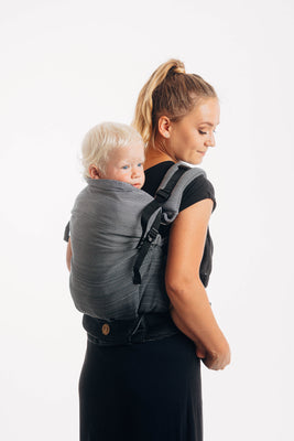 LennyPreschool Carrier - Little Herringbone Ombre Grey