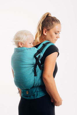 LennyPreschool Carrier - Little Herringbone Ombre Teal