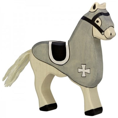 Holztiger Wooden Toys - Black Tournament Horse