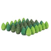 Grapat - Wood Mandala Trees (36pc, Green)