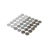 Grapat - Wood Mandala Stones (36pc, Grey)