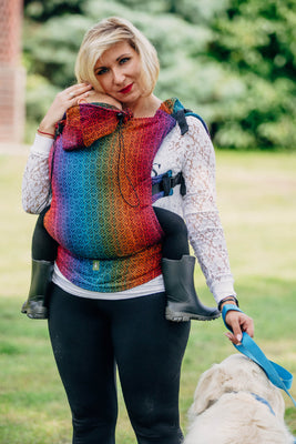 LennyLamb Ergonomic Carrier (Toddler) - Big Love Rainbow Dark