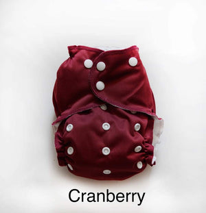Easy Peasies One Size Pocket Diaper - Cranberry