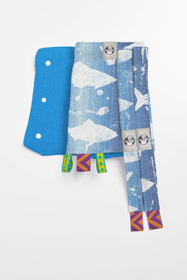 LennyLamb Drool Pads & Reach Straps - Fish'ka Big Blue