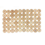 Grapat wood counting coins 60 pieces with numbers from 0-9 - Canada