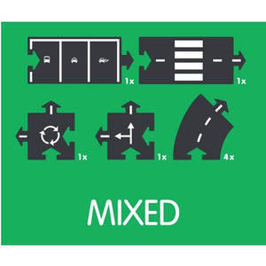 WayToPlay Flexible Roadways - Extension Set: Mixed (8pc)