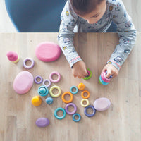 Grimms  - Pastel Building Rings (24pc)
