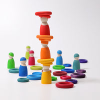 Grimm's  - Rainbow Building Rings (24pc)