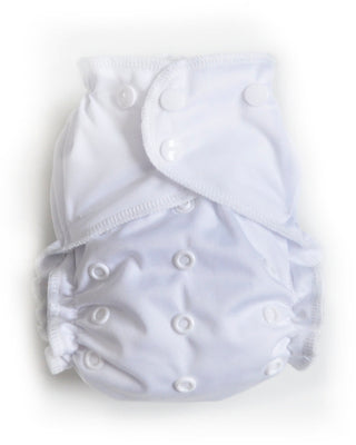 Easy Peasies One Size Pocket Diaper - Classic White