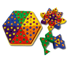 Bauspiel - Coloured Triangles (54pc)