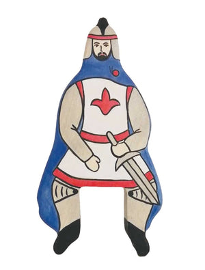 Holztiger Wooden Toys - Blue Knight with Cloak (without horse)