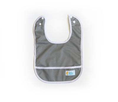Easy Peasies Stay Clean Bibs - Winter Fog