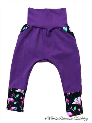 Cutie Patootie Clothing Co. - Kangaroo Grow Pants ( 3-12m) *multiple colours available*