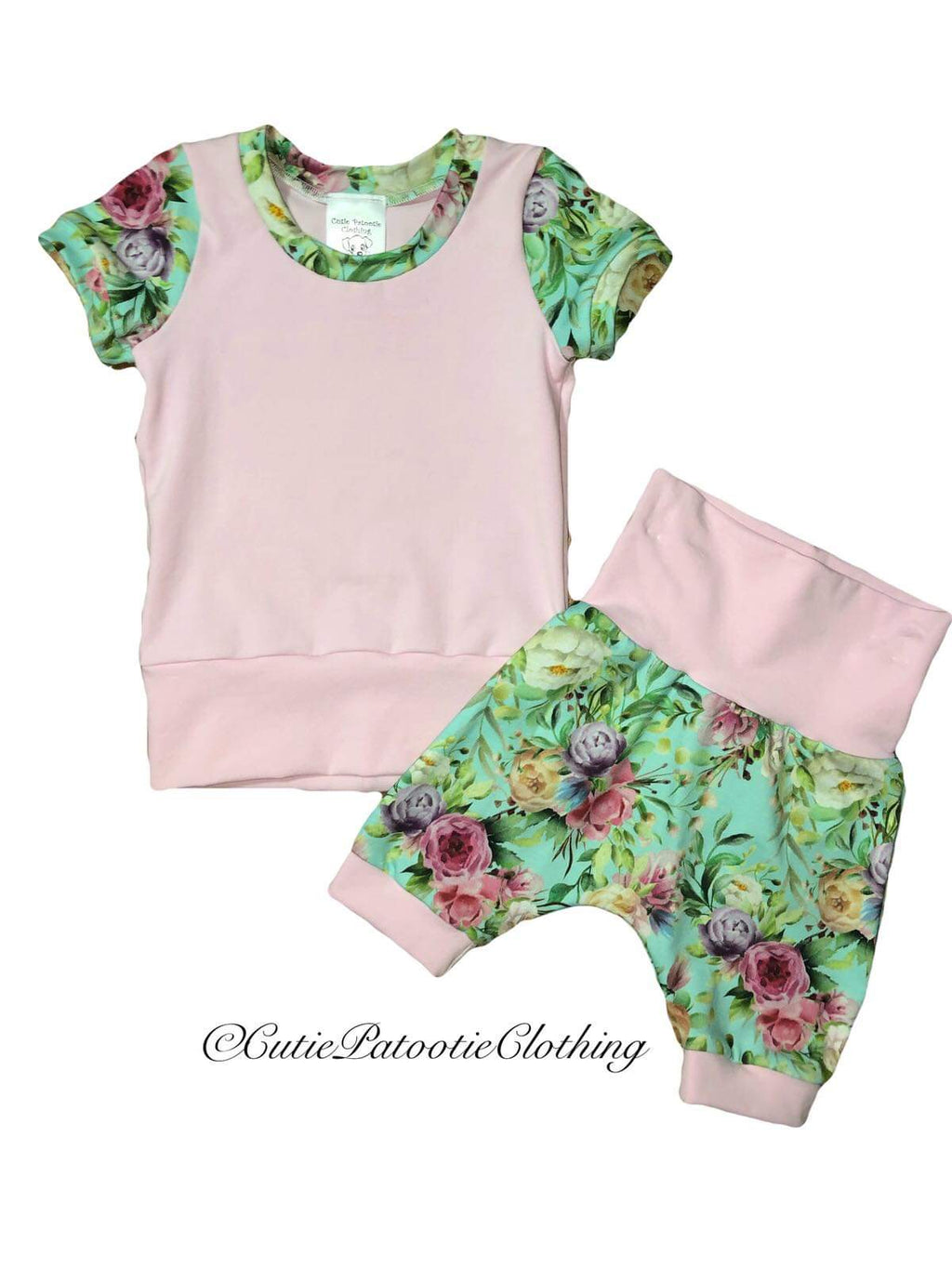 Cutie Patootie Clothing Co. - Grow T-shirt & Shorts Set (3m-12m)