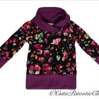 Cutie Patootie Clothing Co. - Cowl Neck Shirt ( 3-12m) *multiple colours available*