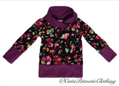 Cutie Patootie Clothing Co. - Cowl Neck Shirt ( 3-12m)