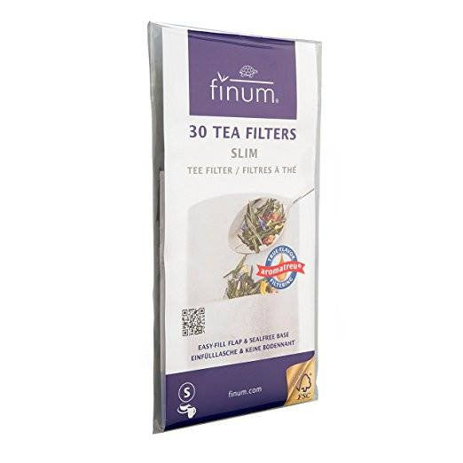 Tea Accessories - Tea Filters By Finum- Easy Fill Loose Leaf Tea Bags 30