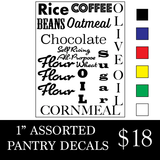 Pantry Goods Decals!